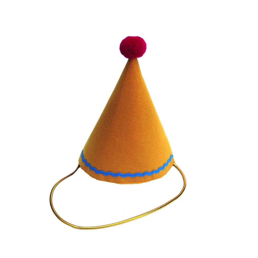 Party Hat - Mustard - Elfie Children's Clothes