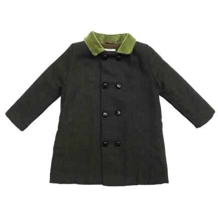 Perry Coat - Green Collar