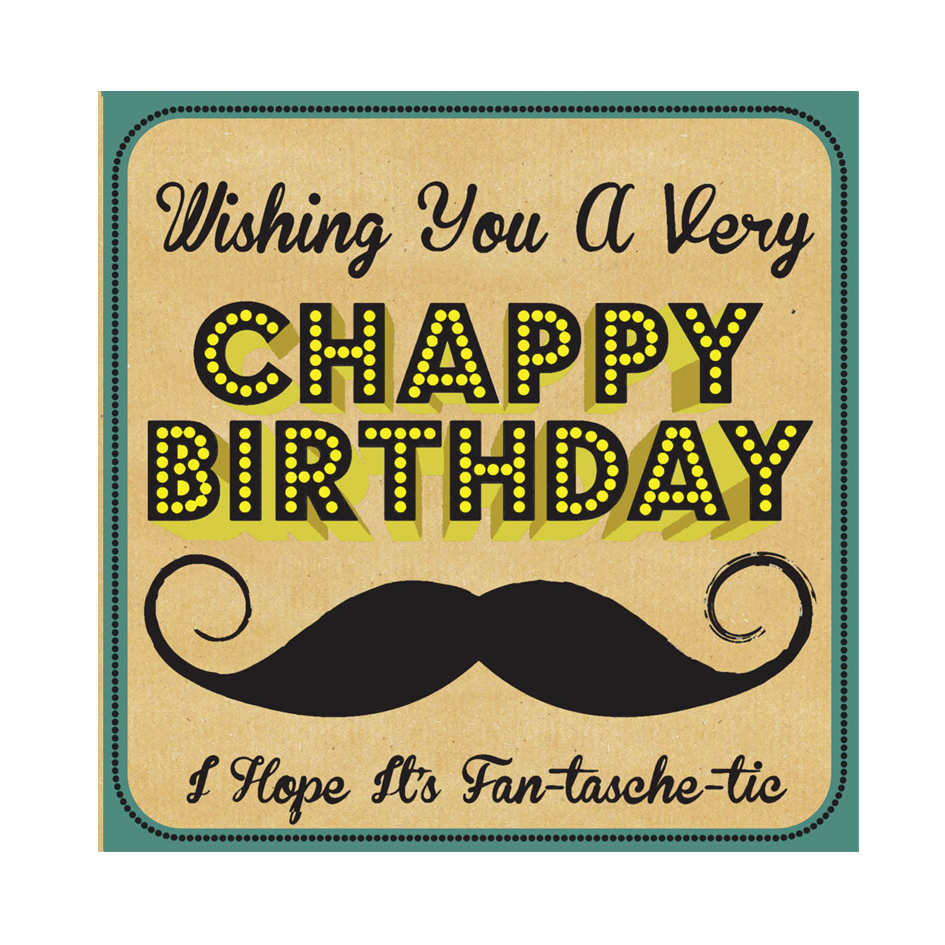 Moustache Birthday Card - Elfie Children's Clothes