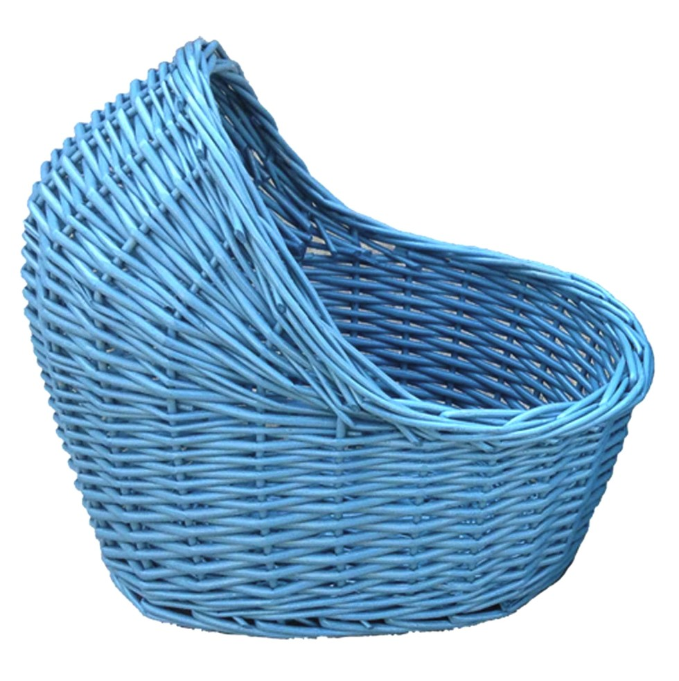 Wicker Baby Basket- Blue - Elfie Children's Clothes