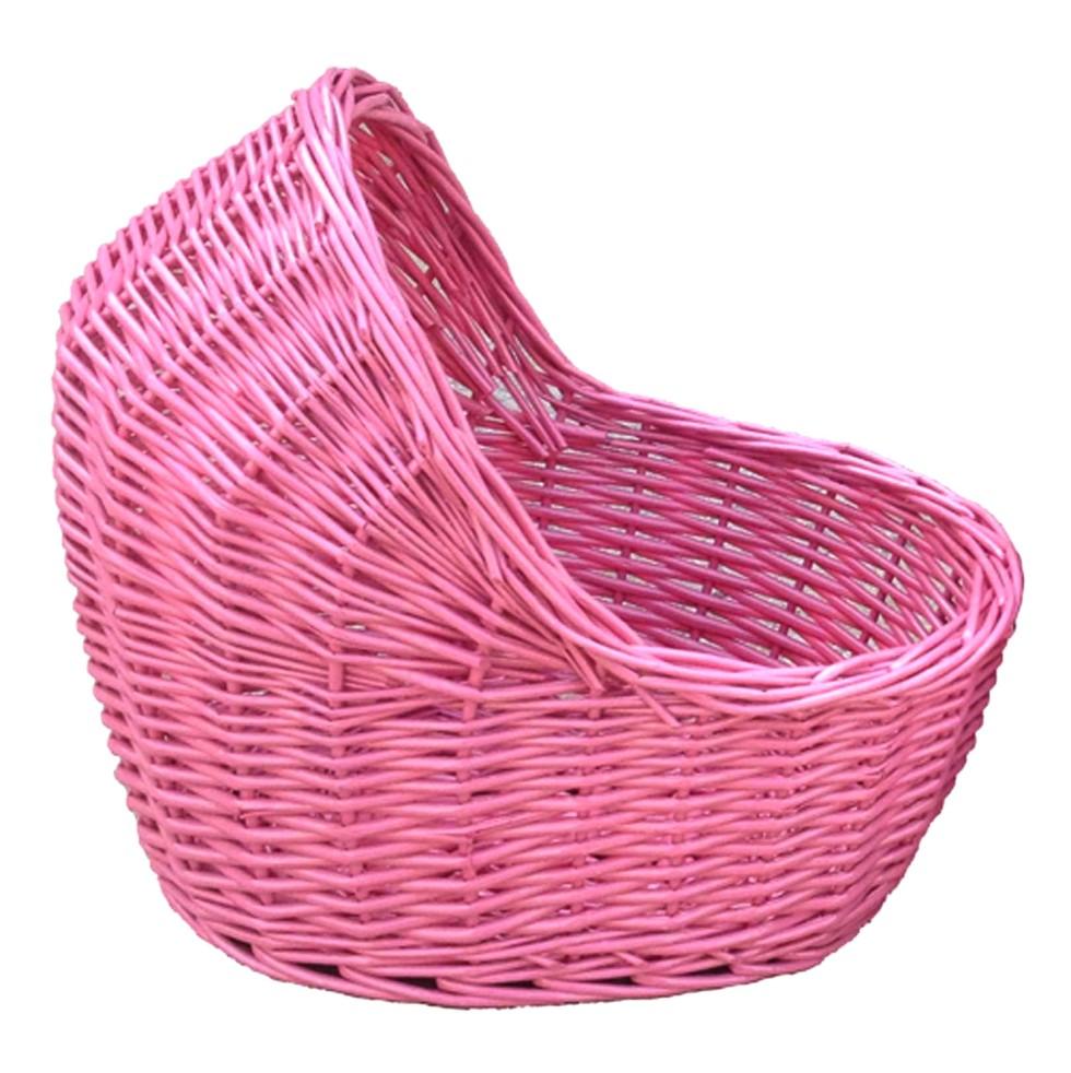 Wicker Baby Basket- Pink - Elfie Children's Clothes