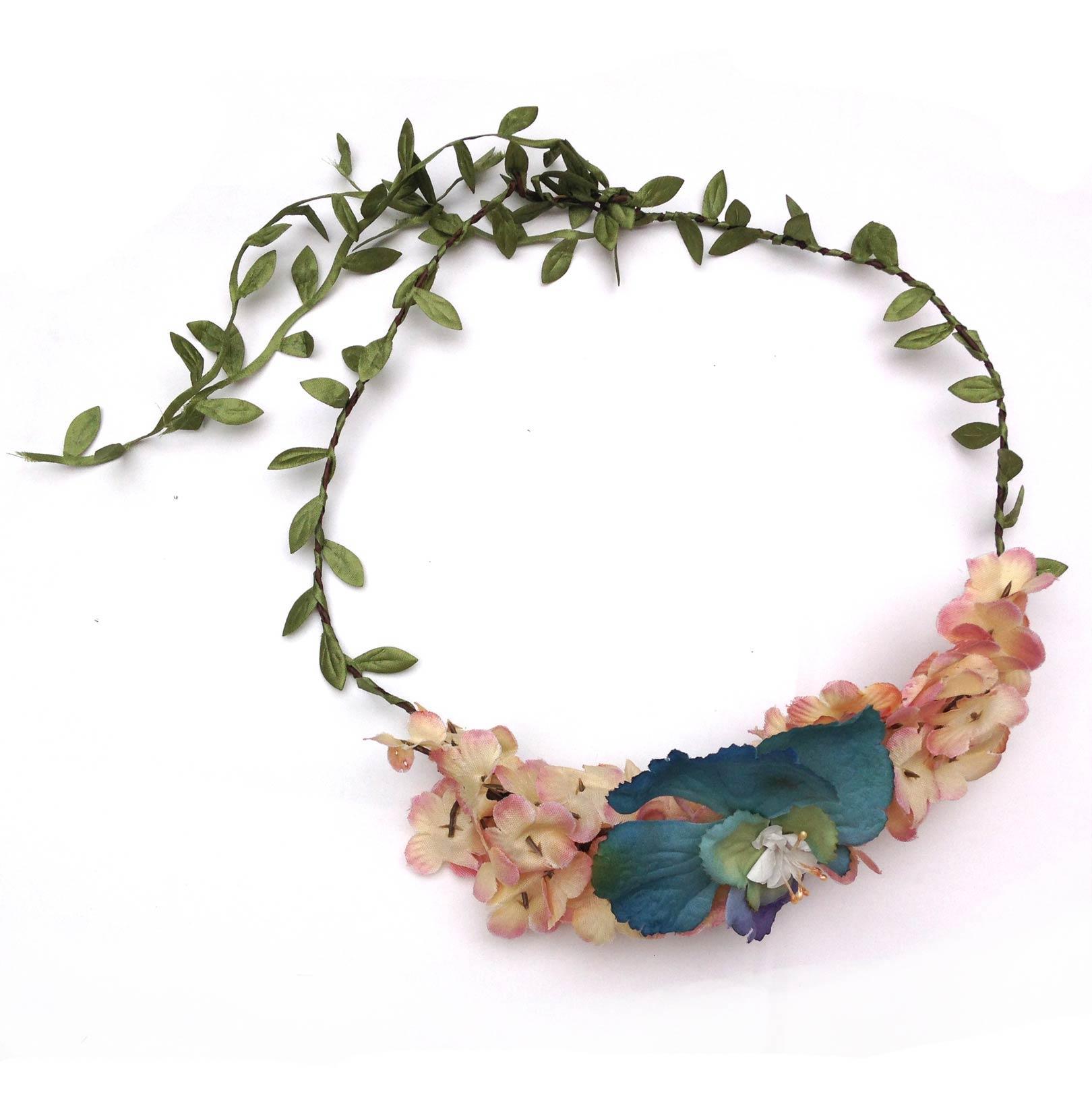 Flower crown large blue and pink elfie childrens clothes flower crown large blue pin izmirmasajfo