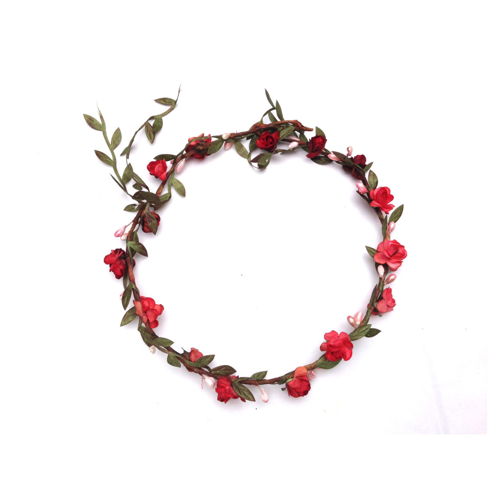 Flower Crown Small Flower Red Elfie Childrens Clothes