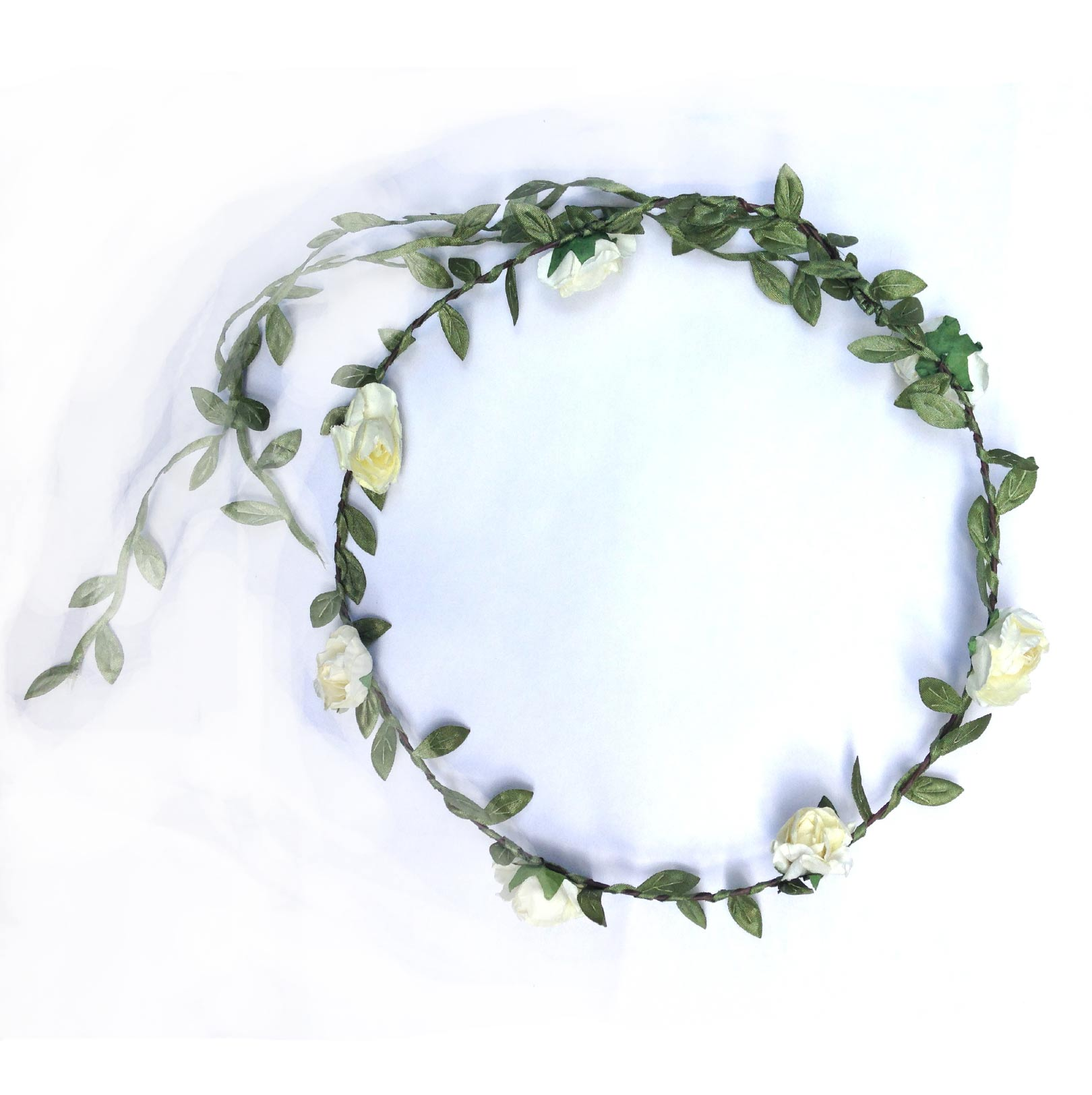 Flower Crown Small White Elfie Childrens Clothes