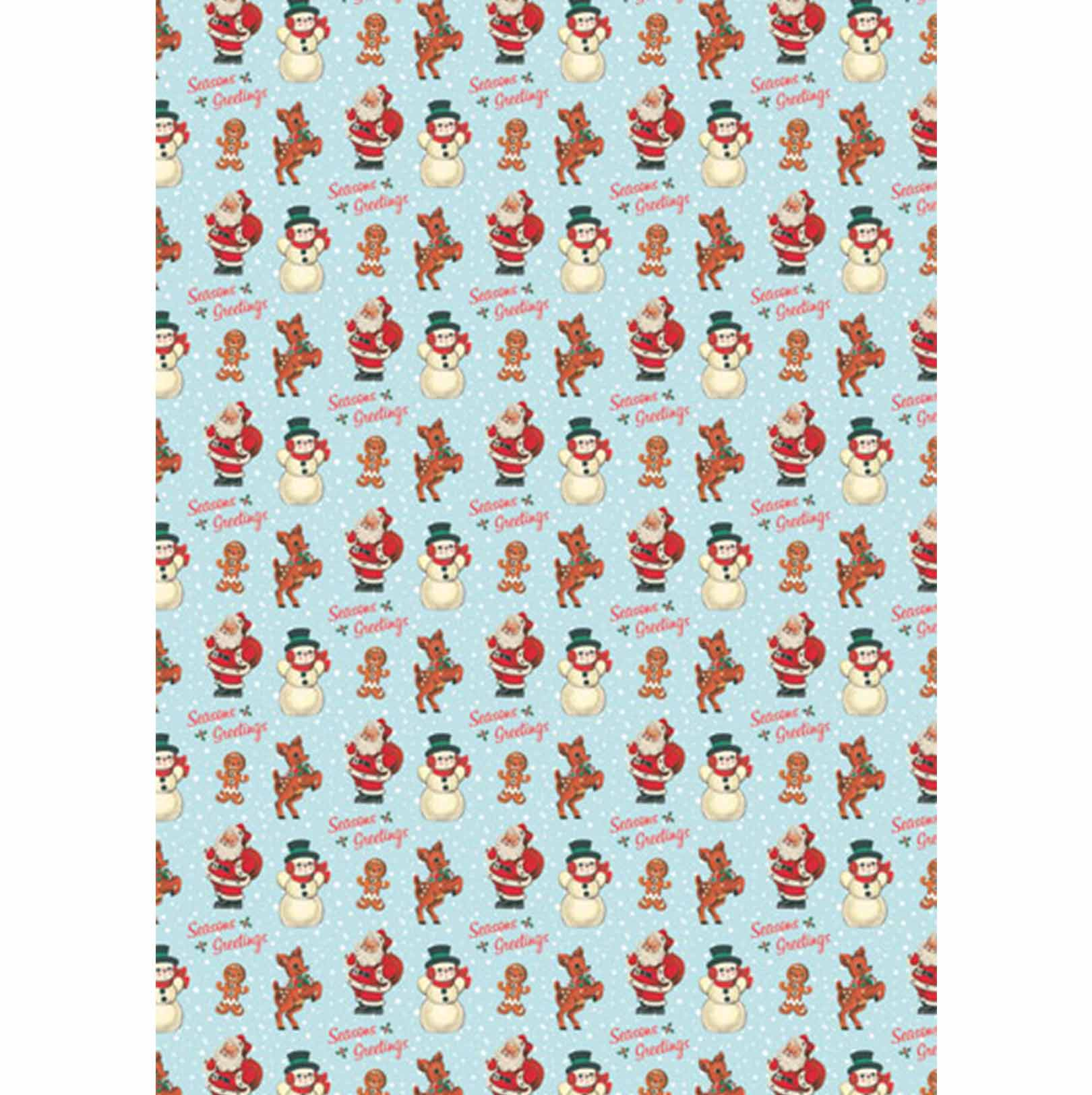 Retro Christmas Wrapping Paper Copy Elfie Children S