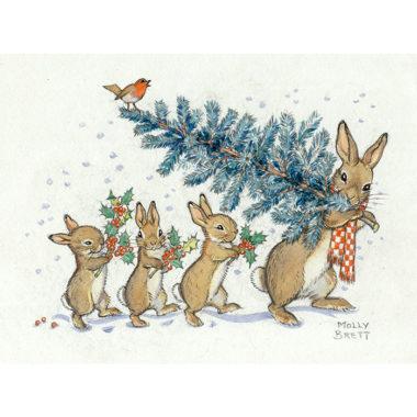 rabbitswithchristmastree